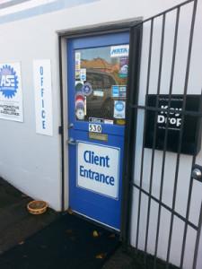 Dwyer blue door