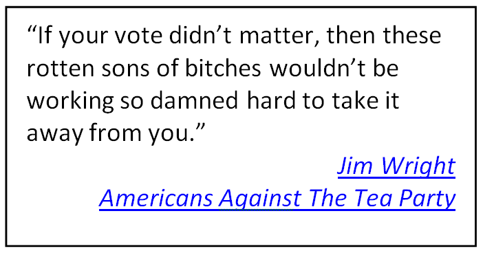 Effects of low voter turnout pictures quotes