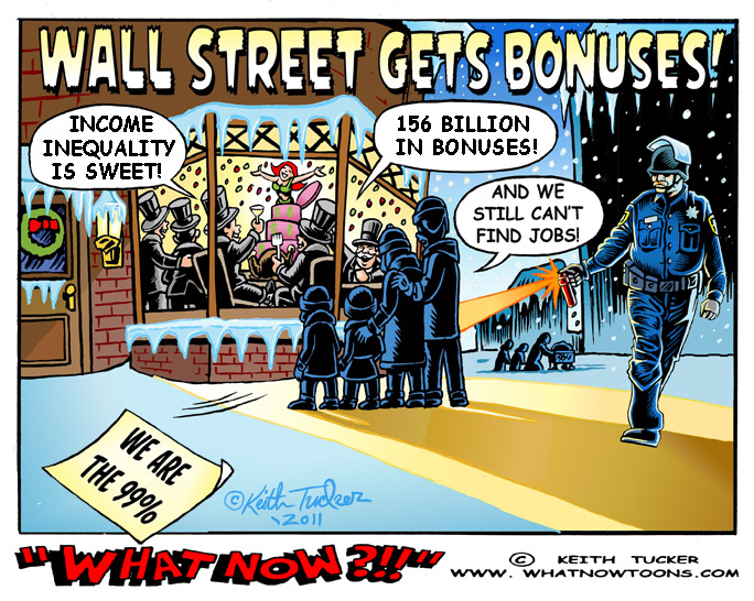 an analysis of khalil bendibs cartoon about the occupy wall street movement