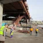 Moving onto the work bridge.