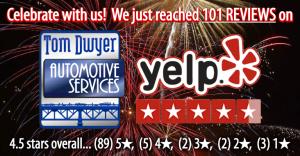 101 Yelp reviews